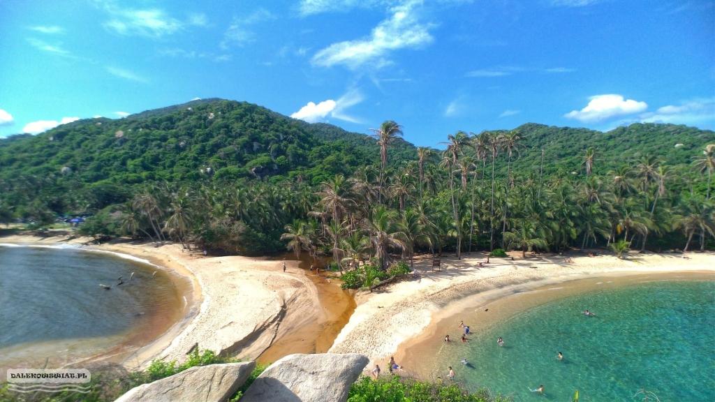 Rajska plaża w Tayrona