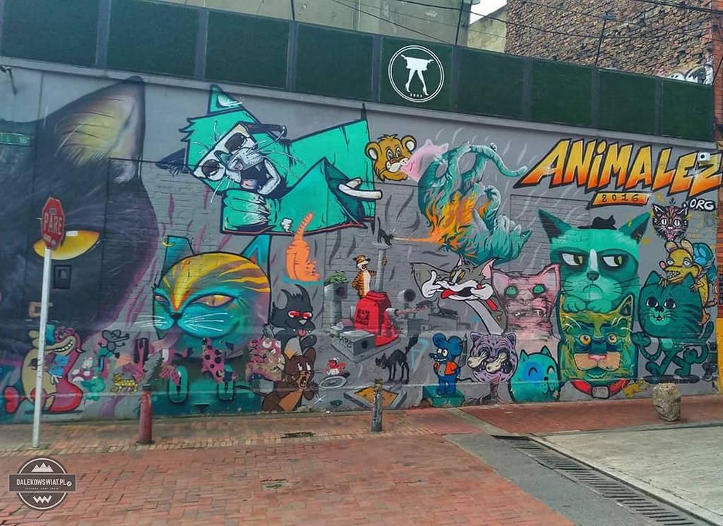 mural w Bogocie, Kolumbia